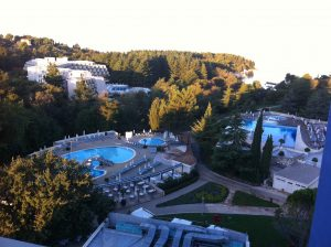 Erstes Bild vom Hotelbalkon